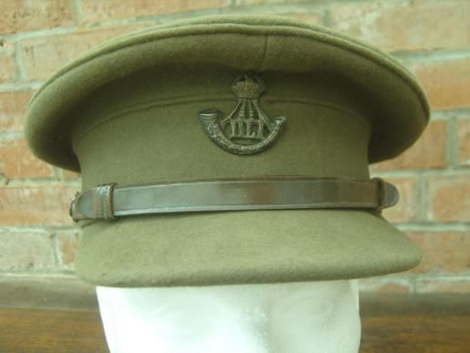 British Army, Durham Light Infantry Regiment Officers Moleskin Service Dress Cap