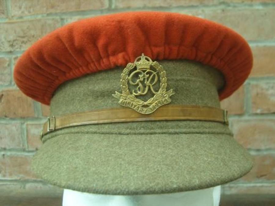MILITARY POLICE 1922 PATTERN BRITISH KHAKI SERVICE DRESS CAP