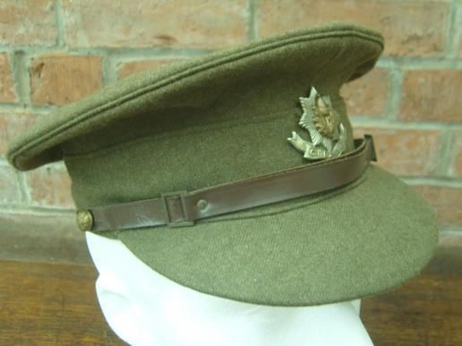BRITISH KHAKI SERVICE DRESS CAP: 1922 PATTERN