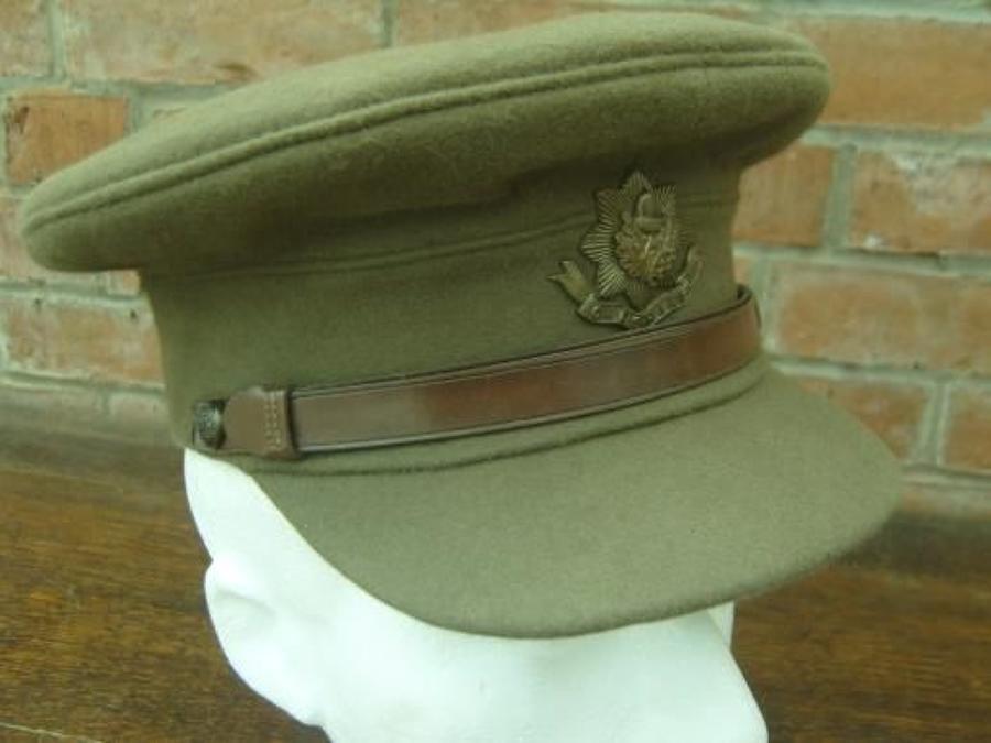 British Army, Cheshire Regiment Officers Moleskin Service Dress Cap