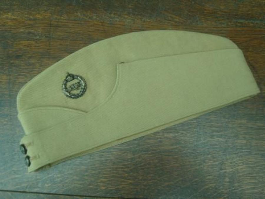 INTER WAR BRITISH OFFICERS KHAKI DRILL SIDE CAP