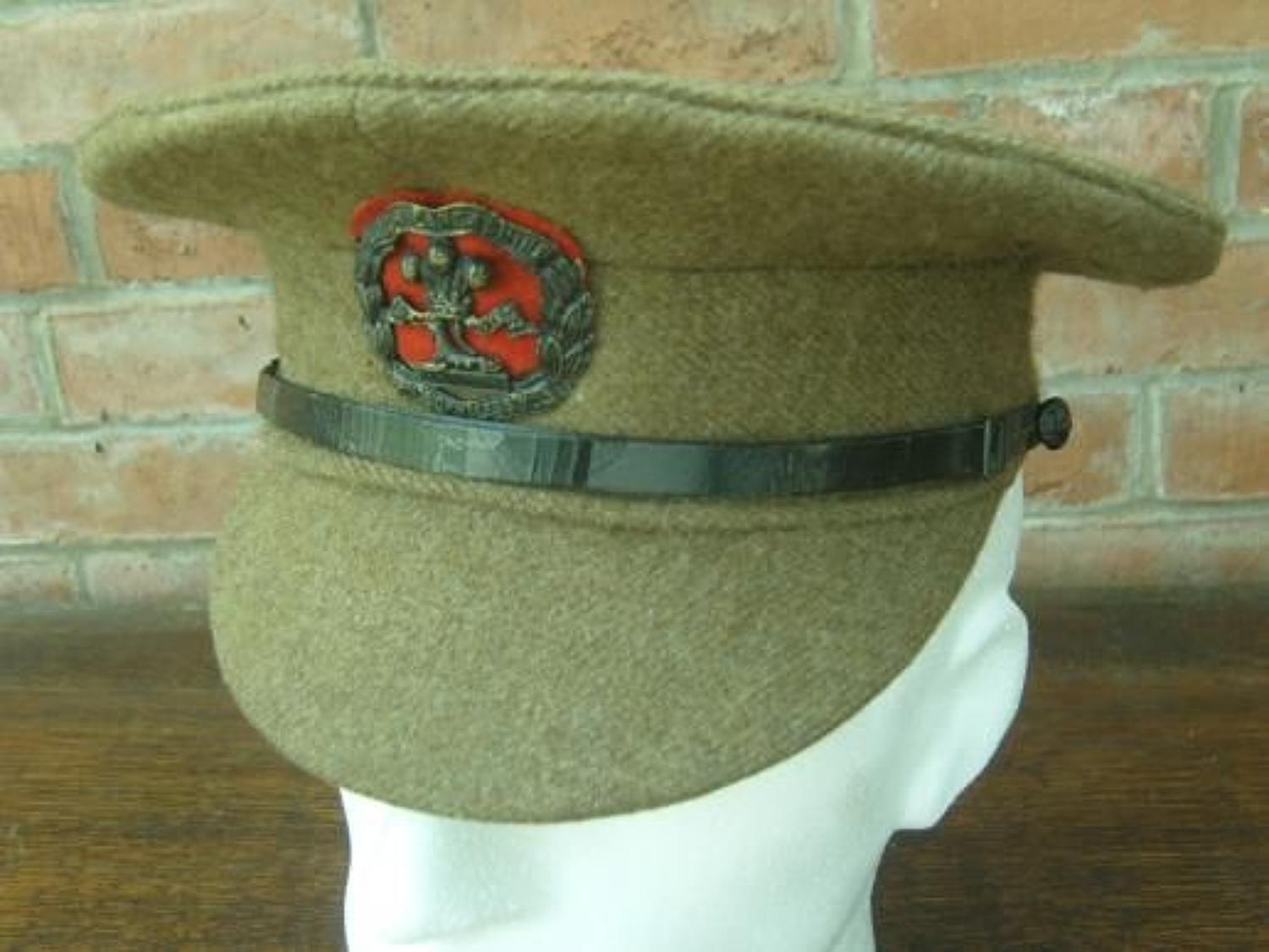 BRITISH WW1 1905 PATTERN OTHER RANKS SERVICE DRESS CAP