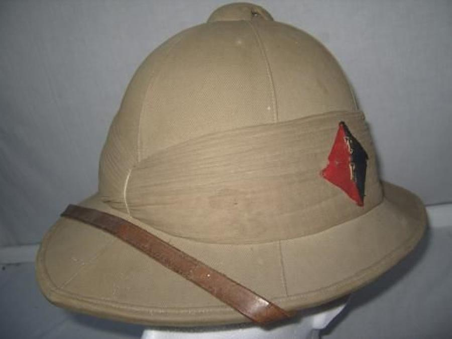 Post WW1 British Army 1924 dated Pith Helmet