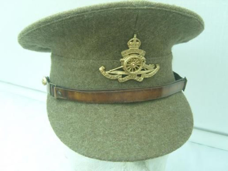 1938 BRITISH KHAKI SERVICE DRESS CAP: 1922 PATTERN