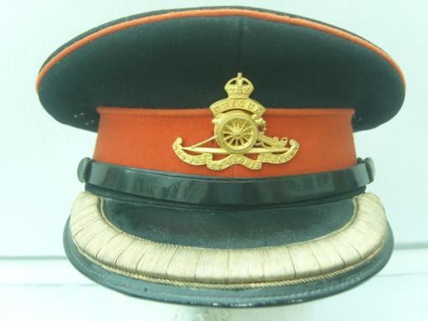 BRITISH ARMY ROYAL ARTILLERY OFFICERS DRESS CAP