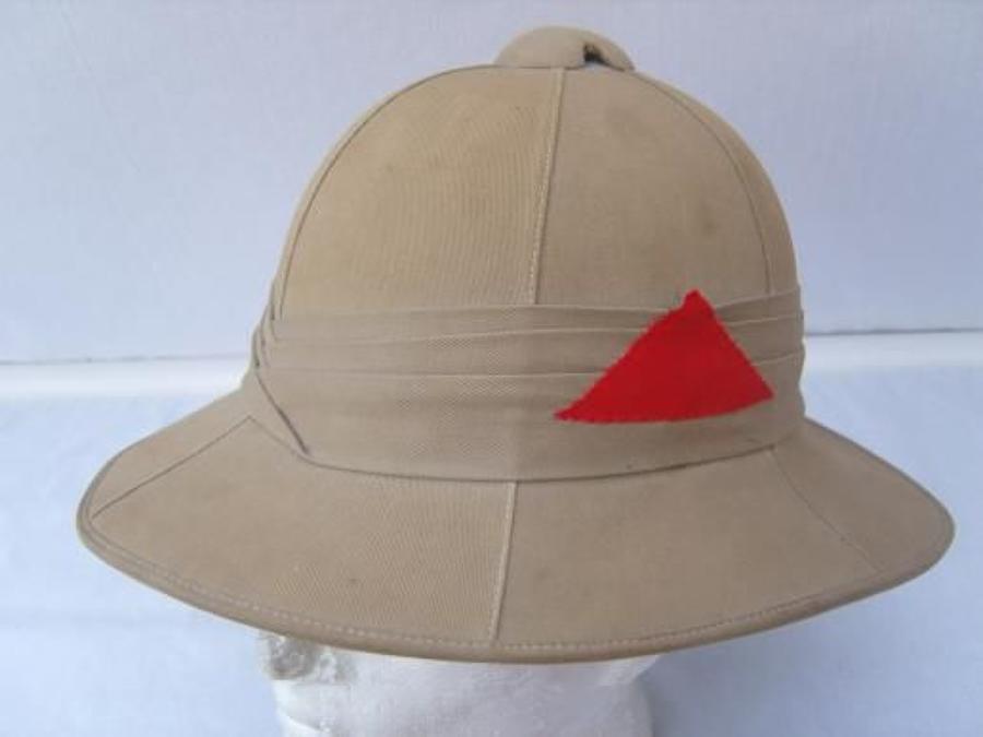 British Army Other Ranks Pre  WW2 Pith Sun Helmet