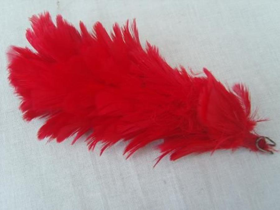British Army red Tam or beret hackle.