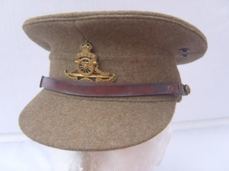 BRITISH KHAKI SERVICE DRESS CAP:1922 PATTERN