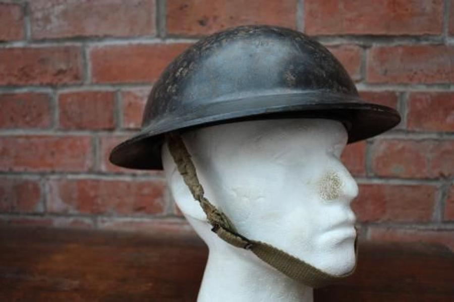 Original  WW2 vintage 1939 - 1945 British Brodie Bakelite Helmet . Dated 1941.