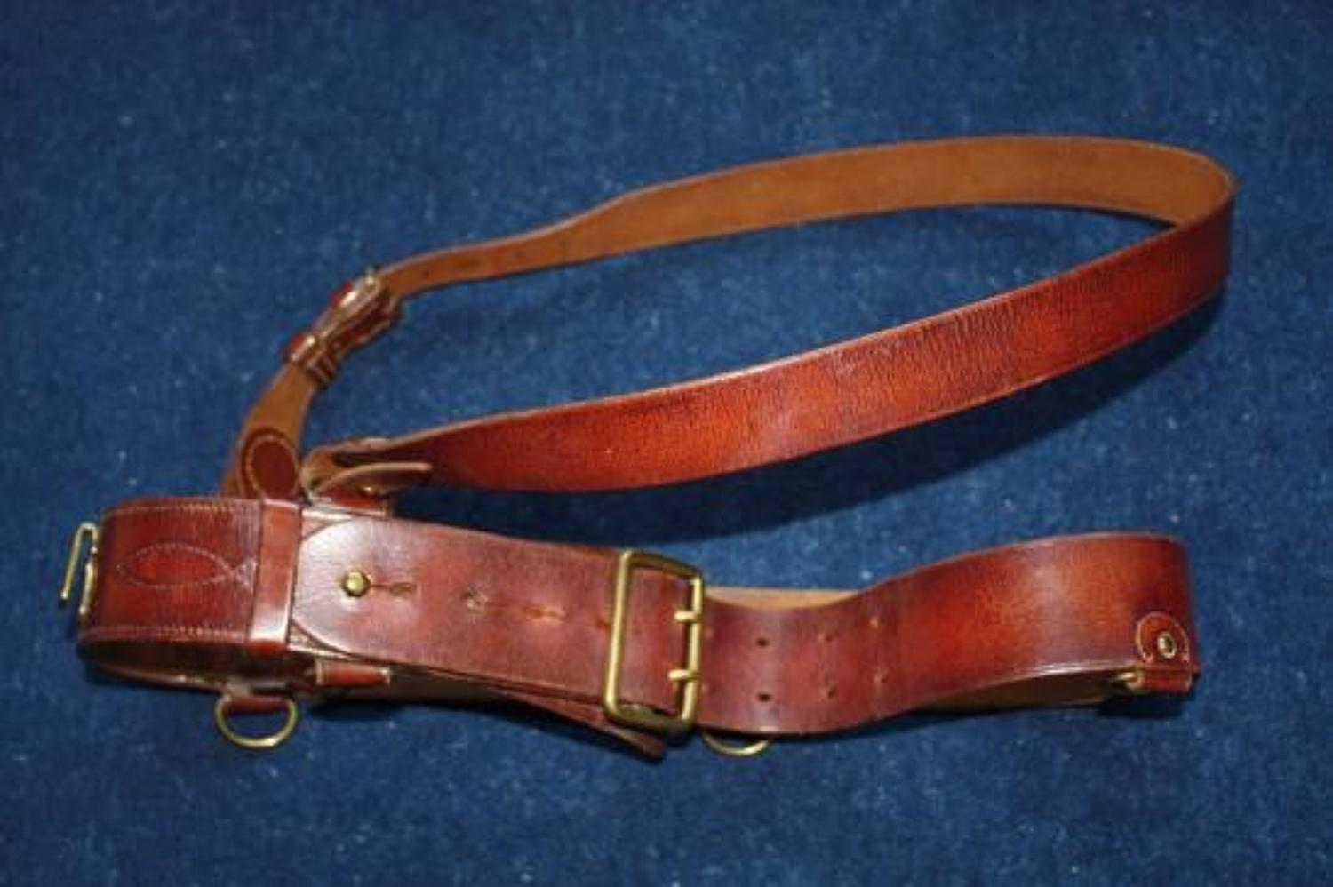 INTER WAR 1937 DATED ORIGINAL BRITISH ARMY OFFICERS SAM BROWNE BELT