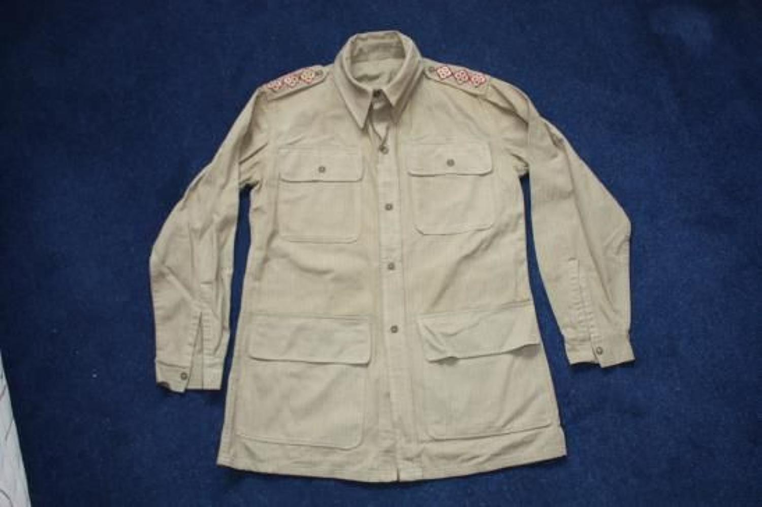 WW2 British Army Officers Bush Jacket.