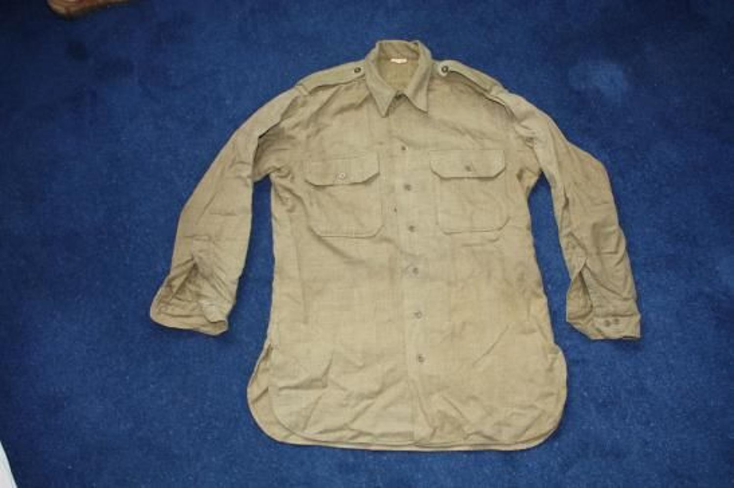 WWII US Made British Army Officers Shirt
