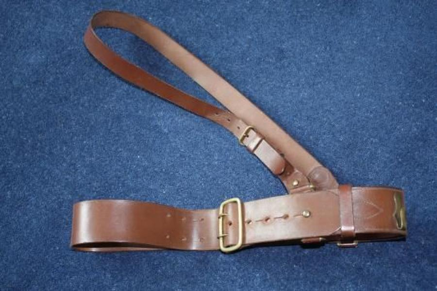 WW2 ORIGINAL BRITISH ARMY OFFICERS SAM BROWNE BELT