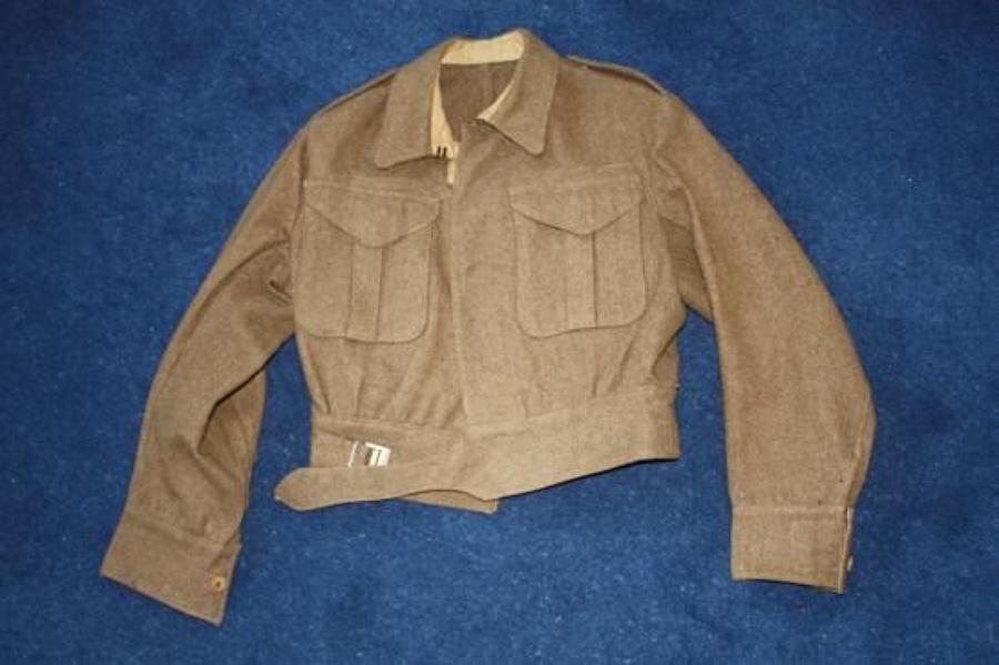 1940 Pattern: 1942 Dated British Army Khaki Battledress Blouse