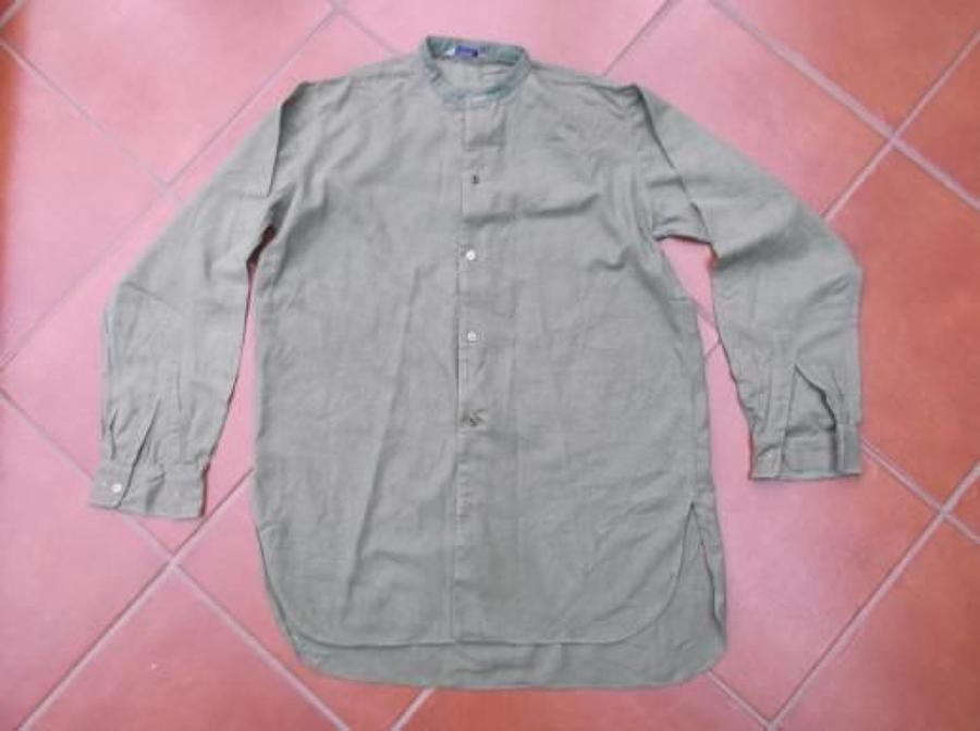 WW2 BRITISH OFFICERS GREEN COLLARLESS SHIRT