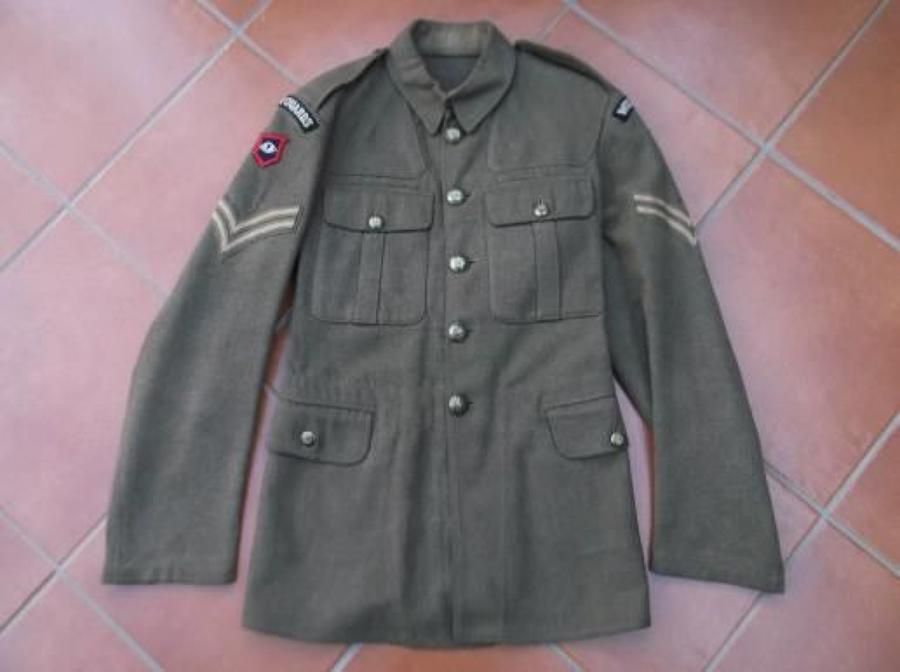 1922 PATTERN BRITISH KHAKI SERVICE DRESS TUNIC WELSH GUARDS