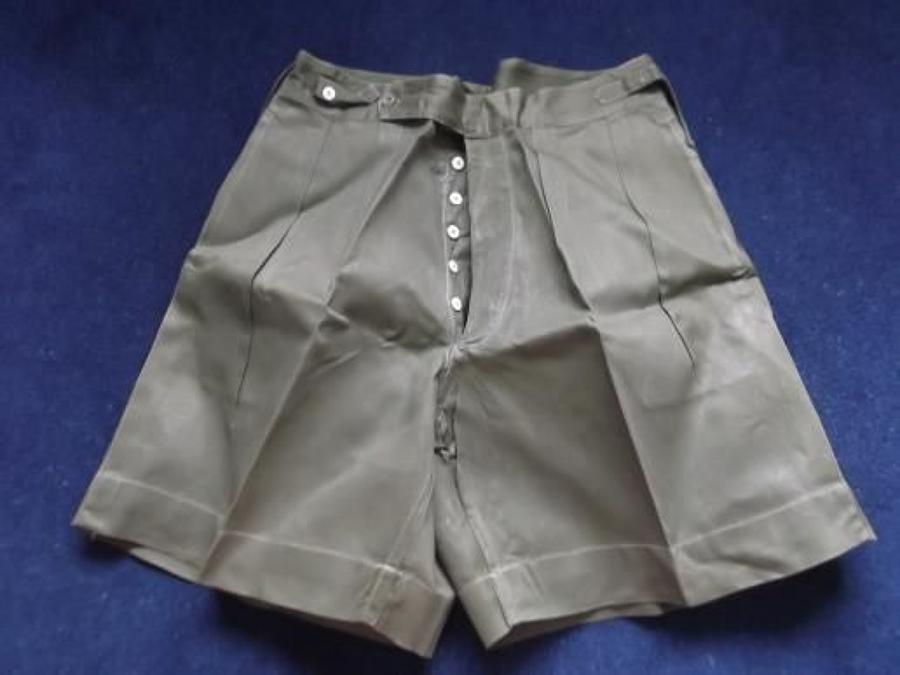 WW2 British Officers Jungle Green  Shorts