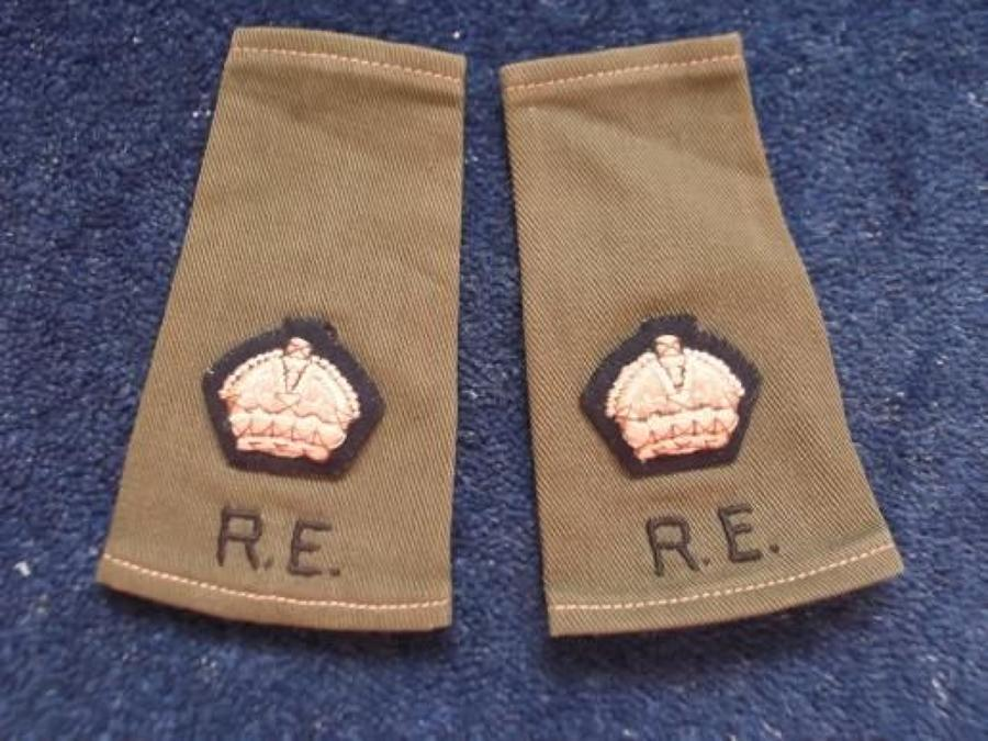 Slip-on Shoulder Rank. Major rank Royal Engineers