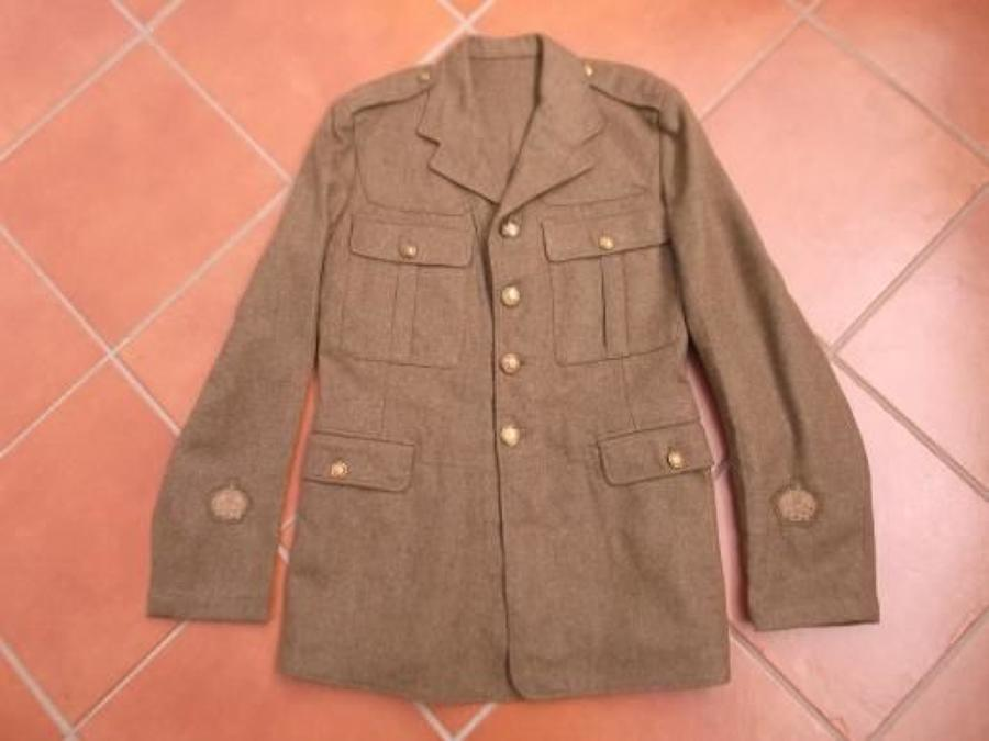 1922 PATTERN BRITISH KHAKI SERVICE DRESS TUNIC UNISSUED