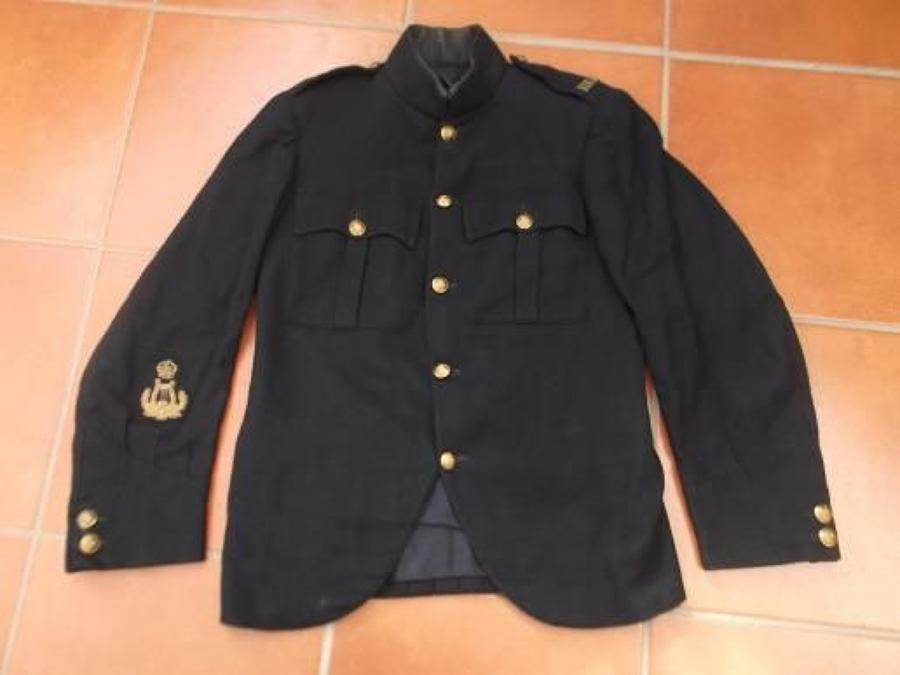 Interwar Blue Warrant Officers Highland Light Infantry Patrol Tunic