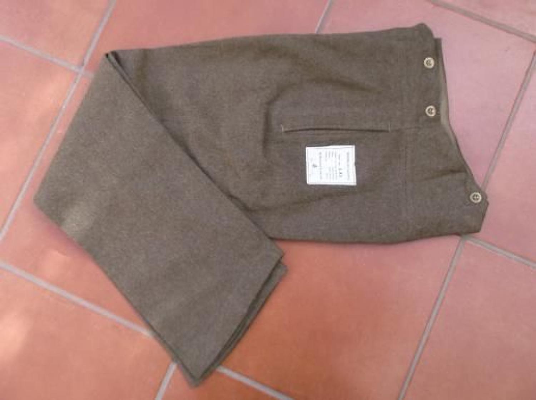 1938 dated British Army Khaki Service Dress Trousers