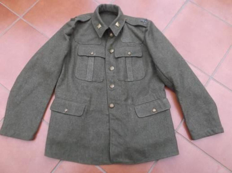 ESSEX REGIMENT 1922 PATTERN BRITISH KHAKI SERVICE DRESS TUNIC