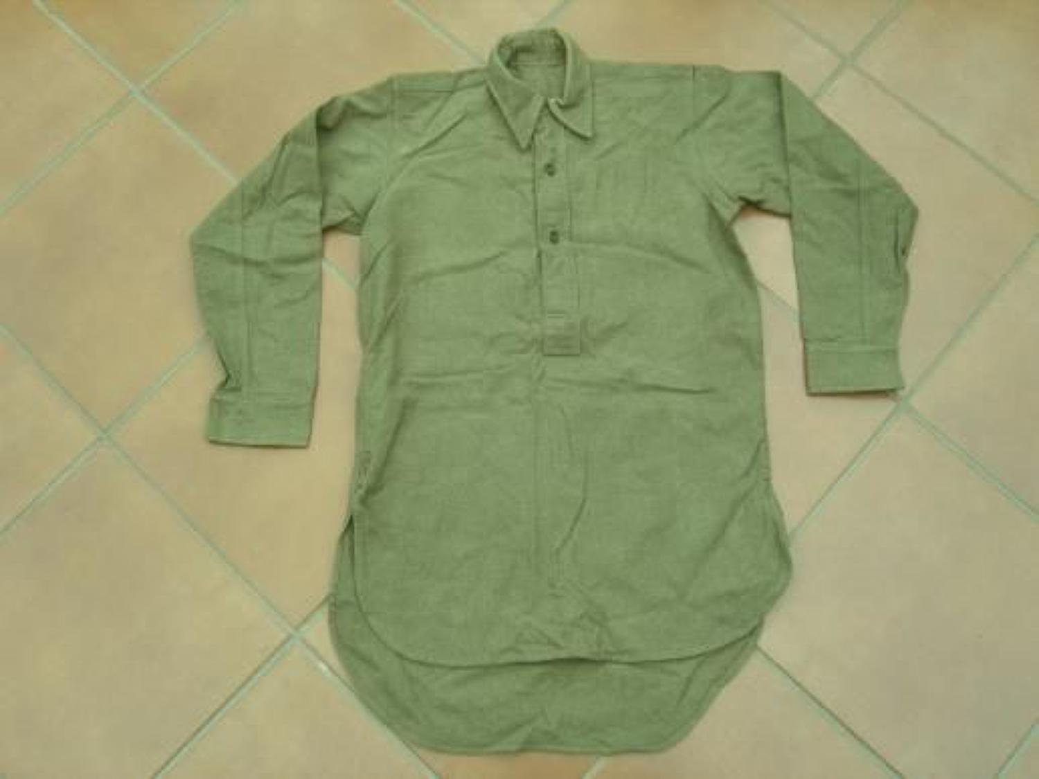 WW2 unissued Other Ranks service dress khaki shirt.