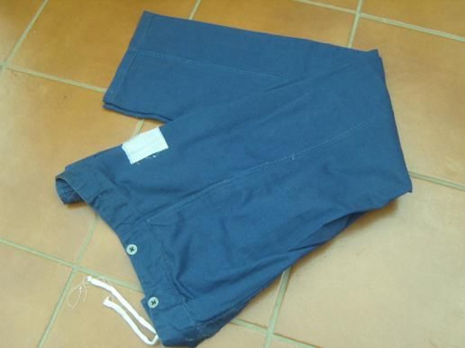 WW2 HOSPITAL BLUE TROUSERS dated 1941