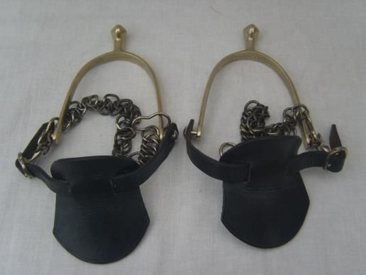 Pair of British Army Mounted troops spurs