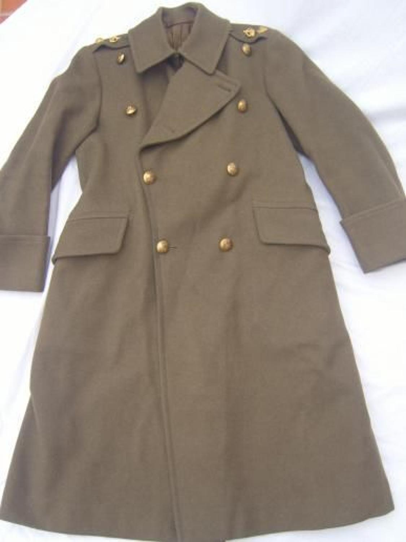 WW1 PATTERN OFFICERS SERVICE DRESS KHAKI GREATCOAT
