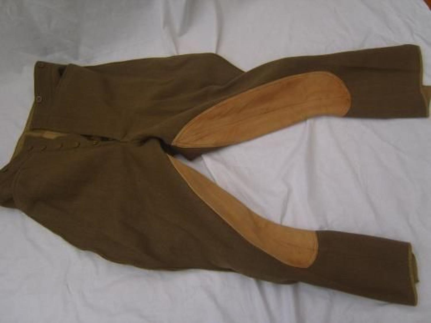 BRITISH OTHER RANKS INTERWAR KHAKI BREECHES