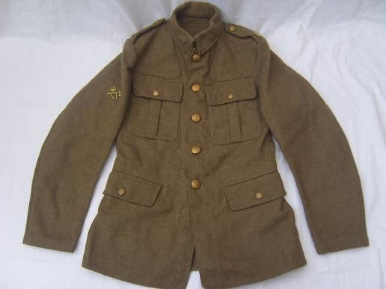 1922 PATTERN BRITISH KHAKI SERVICE DRESS TUNIC:1938
