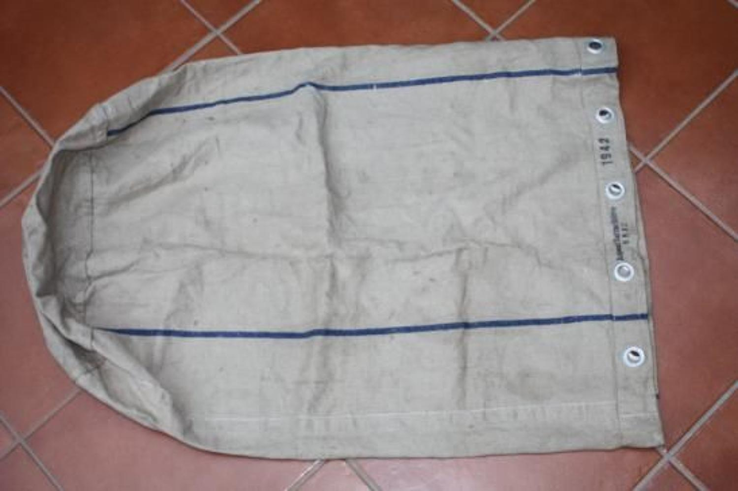 WW2 1942 Dated Large German Canvas Ration Bag