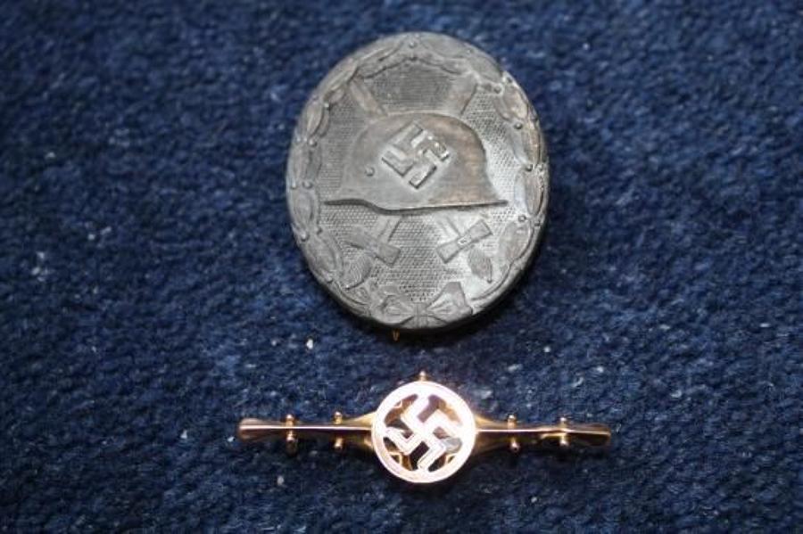 GERMAN WW2  WOUND BADGE - NUMBERED 30 ( HAUPTMÜNZAMT, WIEN)