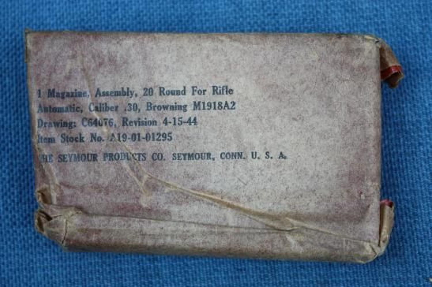 WW2 US Browning Automatic Rifle B.A.R. Magazine in original wrapping