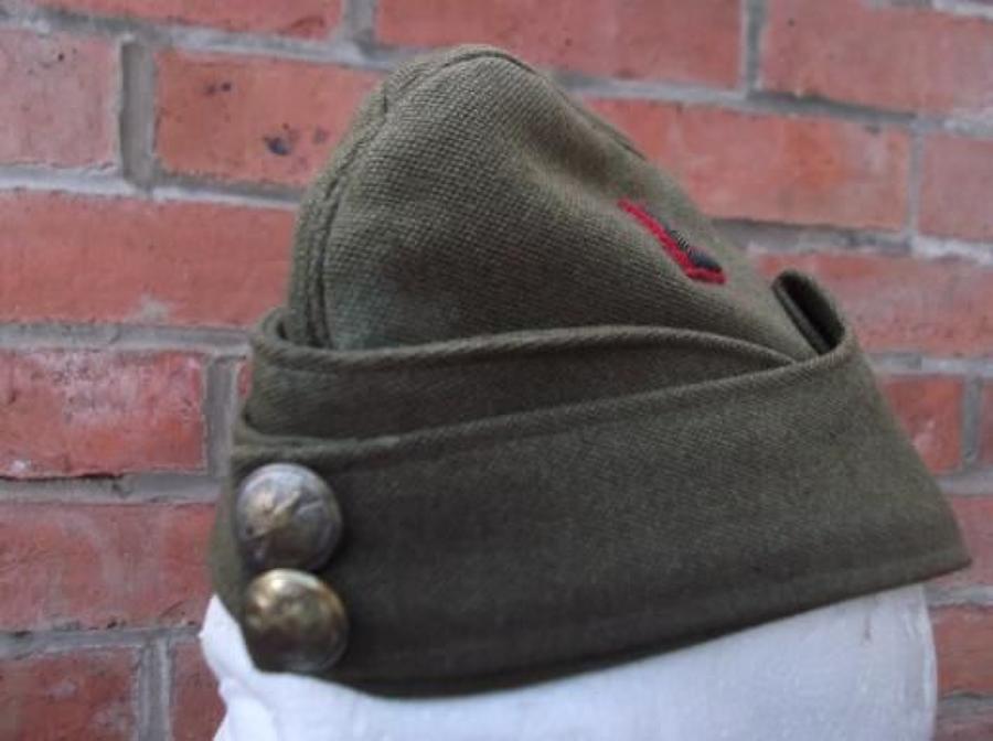 WW2 POLISH ARMY OFFICER QUALITY FIELD SERVICE/ SIDE CAP