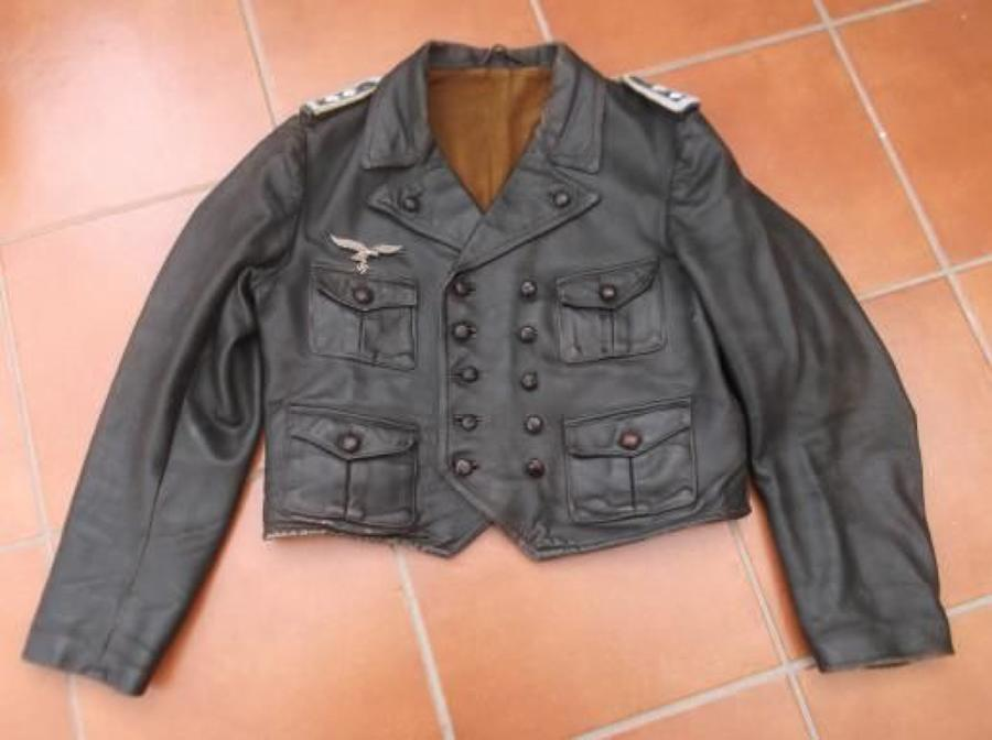 WW2 Luftwaffe Fighter Pilots Four Pocket Dark Brown Leather Jacket