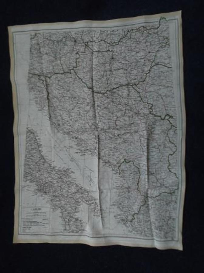 WW2 RAF AIRCREW ESCAPE MAP