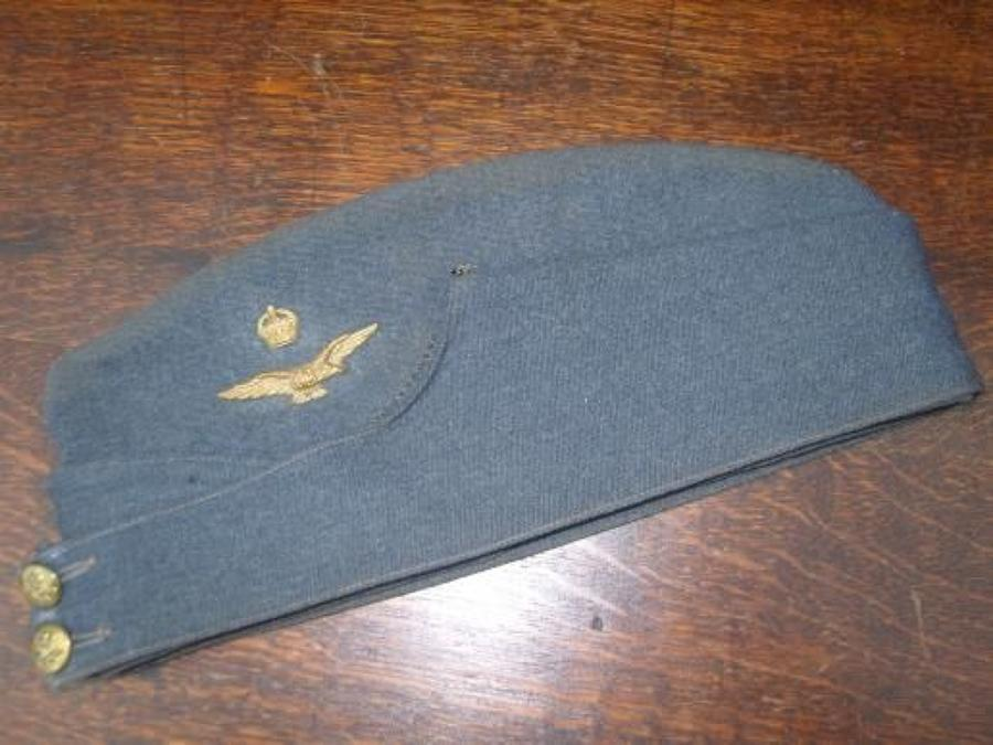 1944 Dated RAF Officers WW2 Side Cap. Size 7