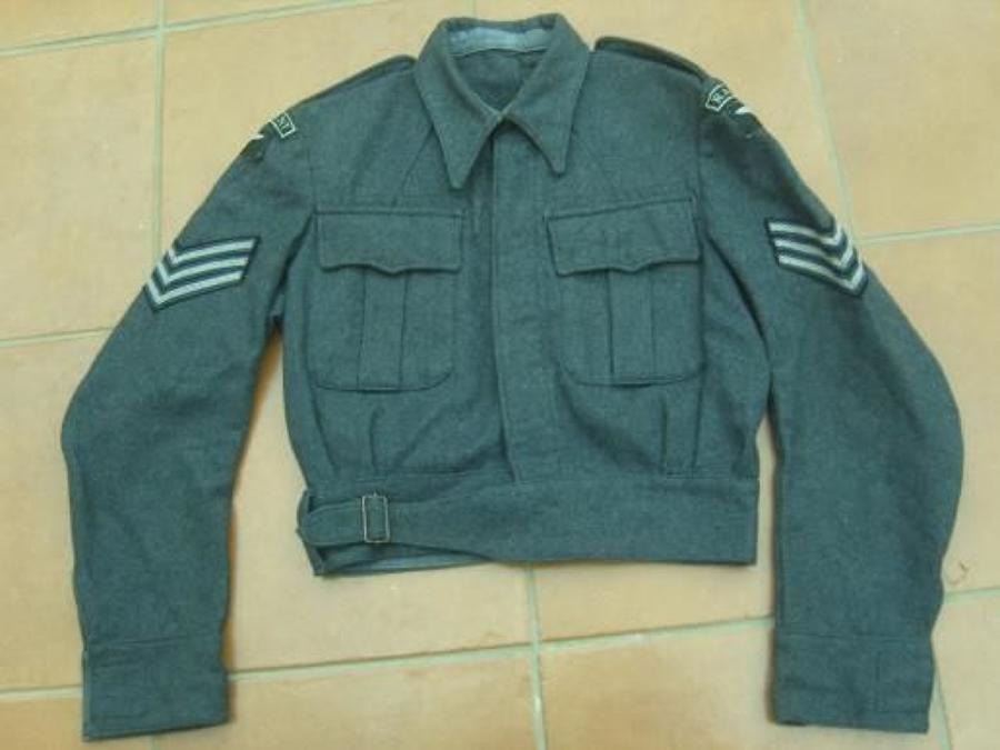WW2 RAF REGIMENT BATTLEDRESS BLOUSE 1945