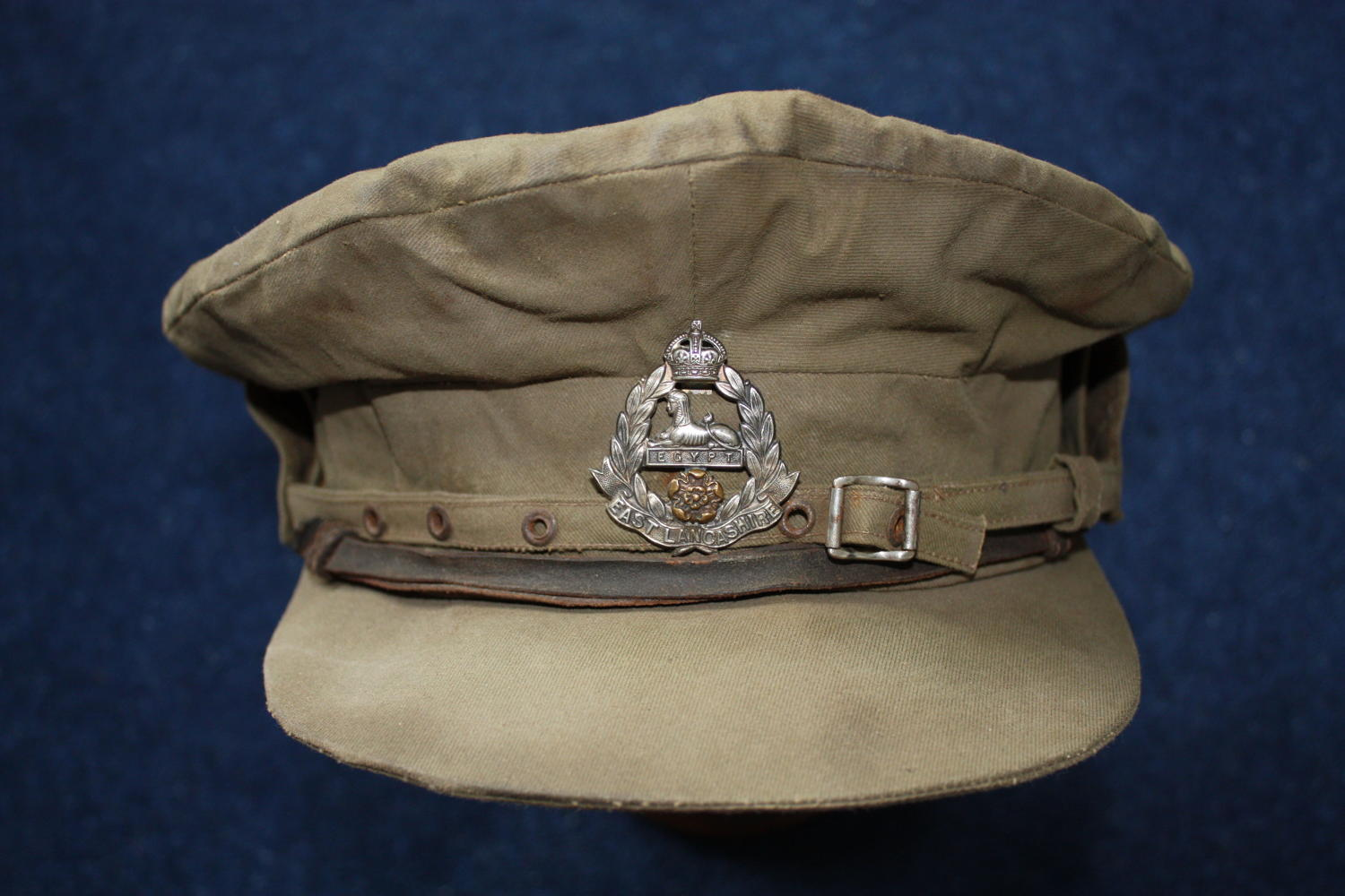 WW1 OFFICER'S TRENCH CAP: EAST LANCASHIRE REGIMENT