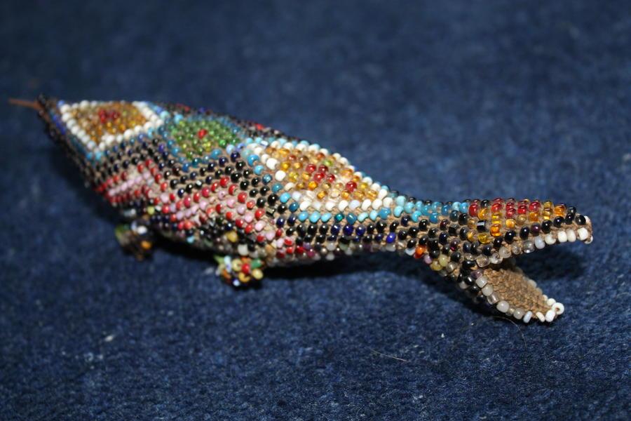 Ottoman Turkish Prisoner of War made beaded lizard dated 1917.