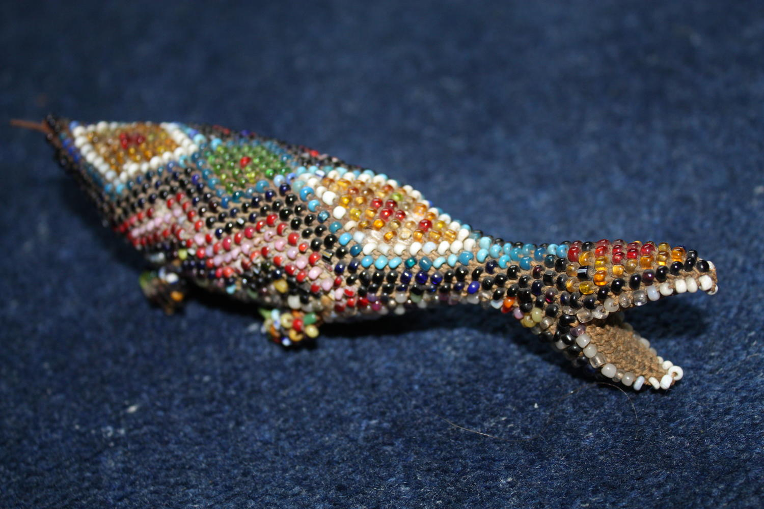 Ottoman Turkish Prisoner of War made beaded lizard dated 1917.