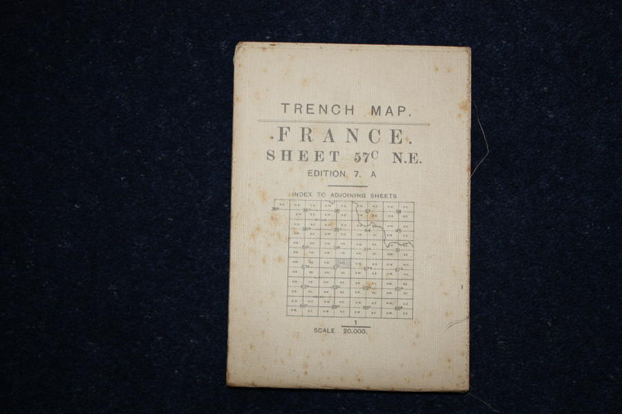 WW1 British Army Trench Map Havrincourt 20th September 1917.