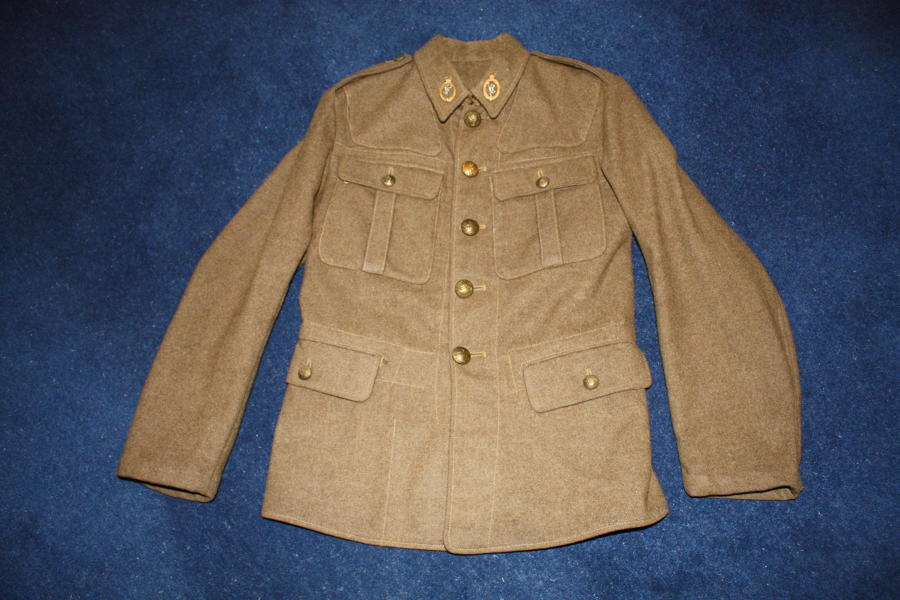 1931 British Army Khaki Other Ranks Service Dress Tunic Royal Signals
