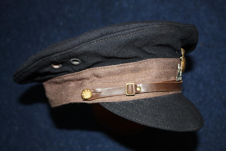 BRITISH PRISONER OF WAR 1918 DATED WW1 OTHER RANKS TRENCH CAP