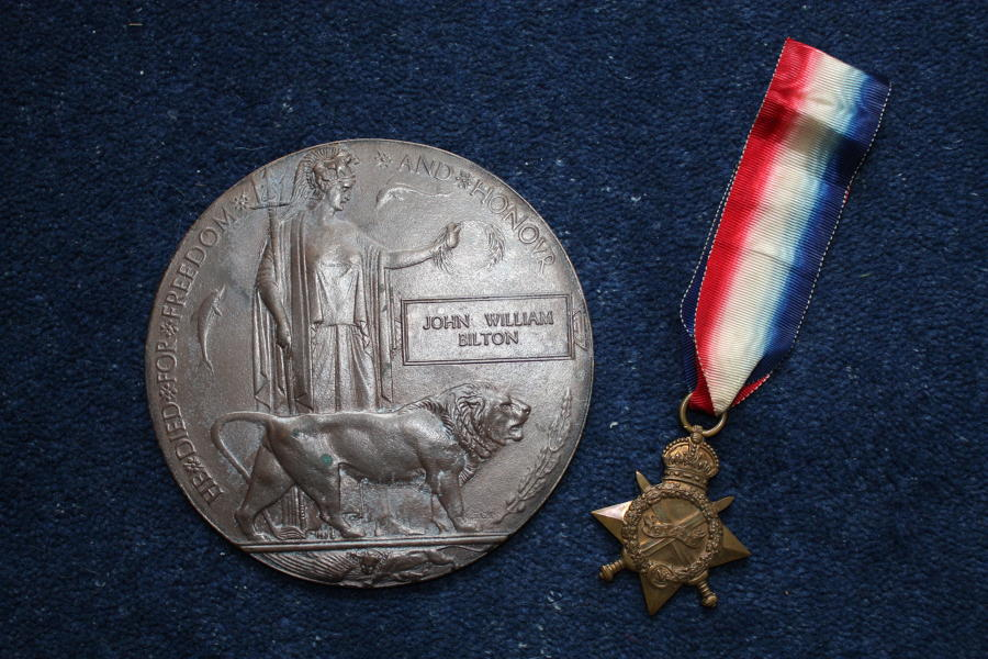 WW1 DEATH PLAQUE & 1914/15 STAR MEDAL TO SAILOR IN 63RD DIVISION