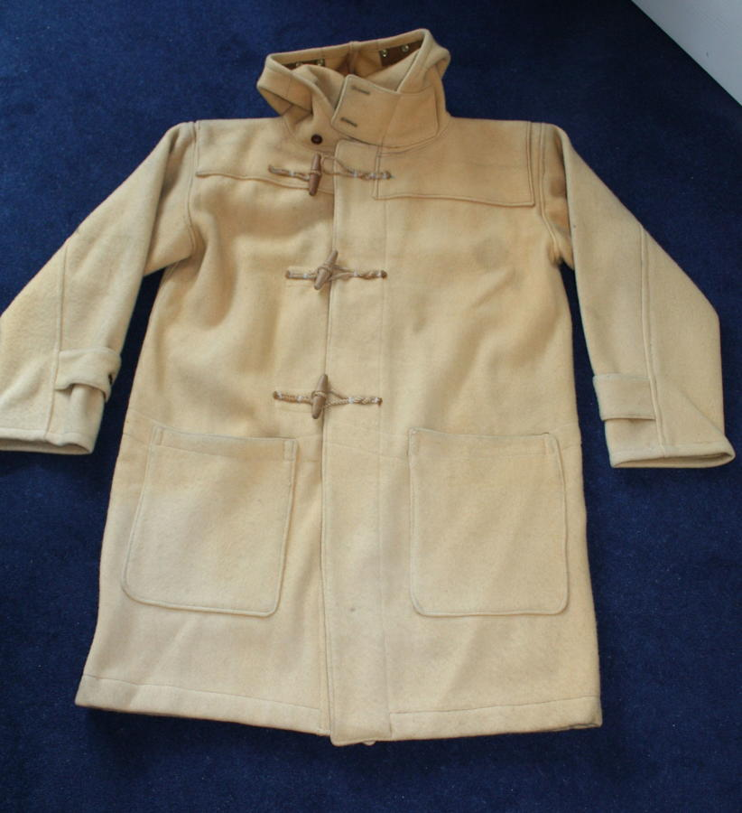 VINTAGE WW2 ROYAL NAVY HEAVY WOOL TOGGLE DUFFLE COAT 1940's