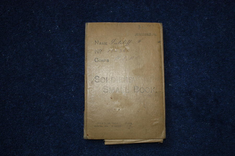 WW1 BRITISH ARMY SOLDIERS SMALL BOOK FRED SUTCLIFFE RAMC