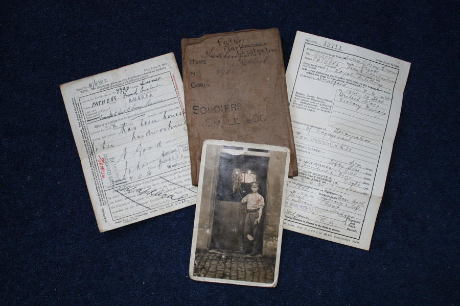 WW1 BRITISH ARMY SMALL BOOK: FRANK FATHERS ROYAL ARTILLERY